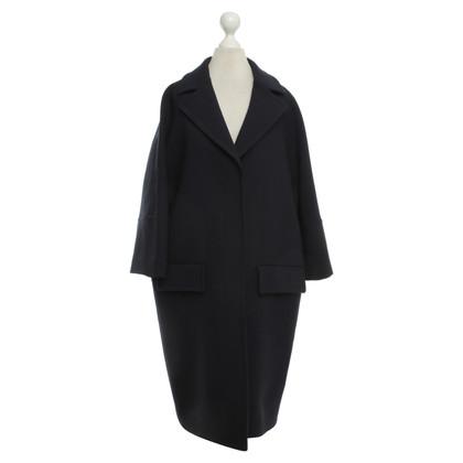 Marni Dark blue wool coat