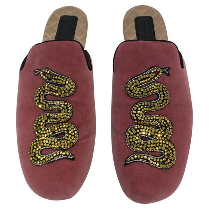 Gucci Velvet Mules