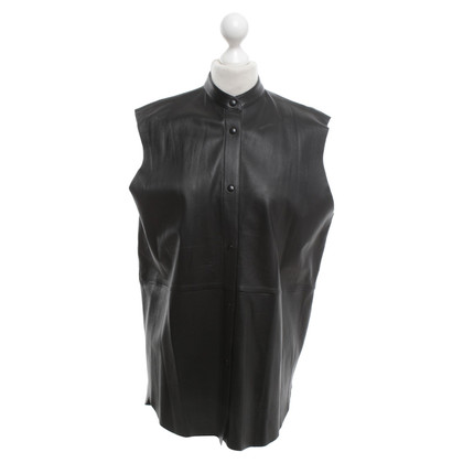Closed Leather blouse in black