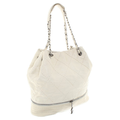 Chanel Borsa a spalla in crema