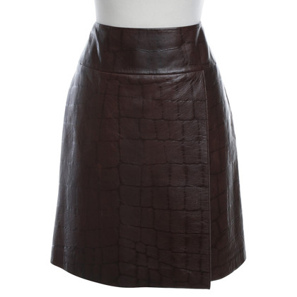 St. Emile Leather skirt in brown