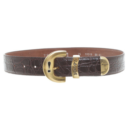 JOOP! Leather Belt in Brown