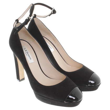 L.K. Bennett pumps black with strap