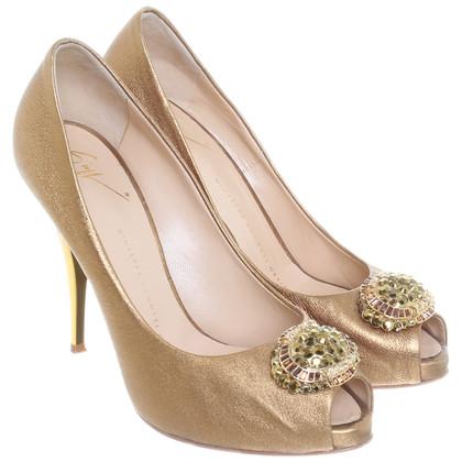 Giuseppe Zanotti Peep-toes with semi-precious stones