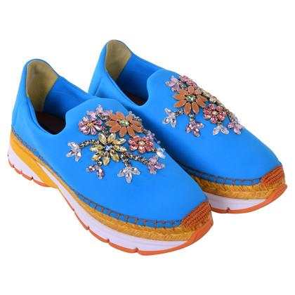 Dolce & Gabbana Sneakers con finiture in pietra preziosa