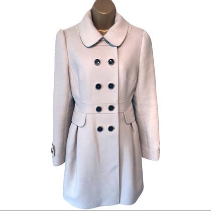Karen Millen Double Breasted Ivory Wool Coat