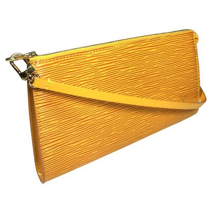 Louis Vuitton Pochette Accessories Epi Leather Yellow