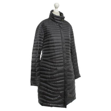 Salvatore Ferragamo cappotto trapuntato in blu scuro