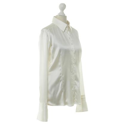 Van Laack Zijden blouse in crème
