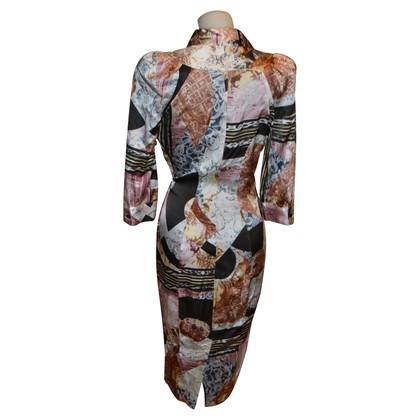 Just Cavalli zijden jurk met patroon