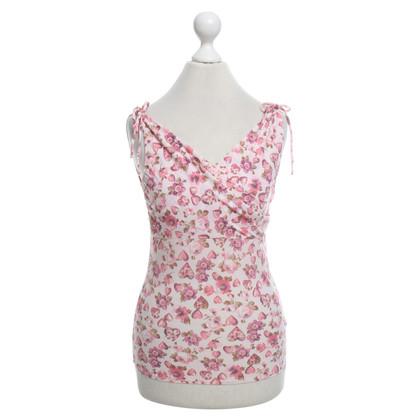 Blumarine Top avec un motif floral