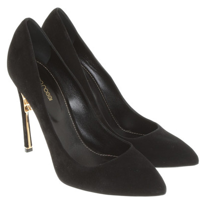 Sergio Rossi Wild leather pumps in black