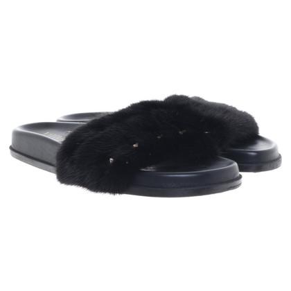 Valentino Slipper con rifiniture in pelliccia