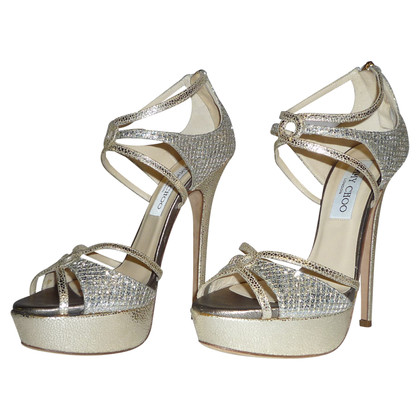 Jimmy Choo PARTY SHOES IN GOLD LEATHER