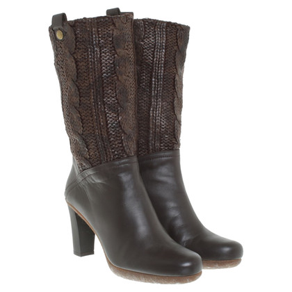 Stuart Weitzman Ankle boots with knit pattern