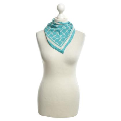 Loro Piana Zijden sjaal in turquoise