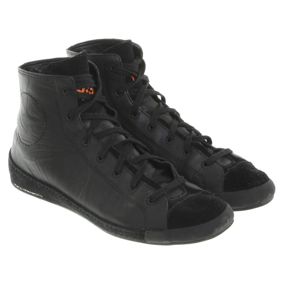 yohji yamamoto chaussures de sport en noir acheter yohji yamamoto chaussures de sport en noir. Black Bedroom Furniture Sets. Home Design Ideas