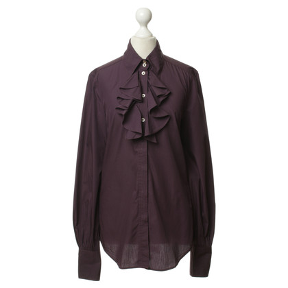 Drykorn Ruffle blouse in purple