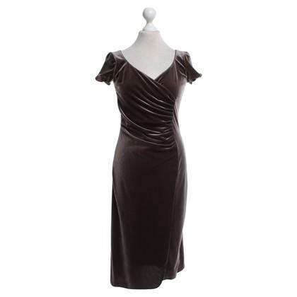 Armani Samt-Kleid in Dunkelbraun