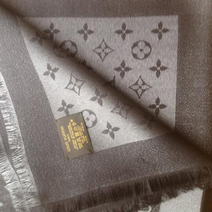 Louis Vuitton Sciarpa del monogramma in nero/argento