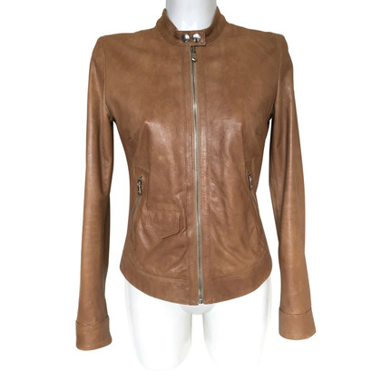 Dolce & Gabbana Leren jasje in bruin