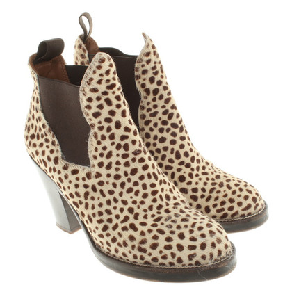Acne Boots with leopard print