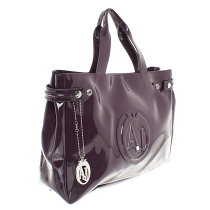 Armani Shopper in Violett