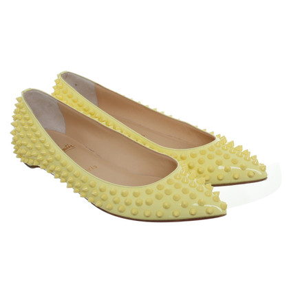 Christian Louboutin Yellow Ballerinas with rivets