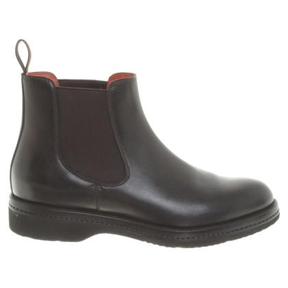 Santoni Chelsea boots in nero