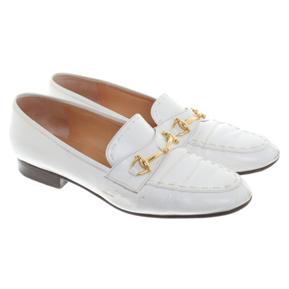 Céline Leather slippers in white