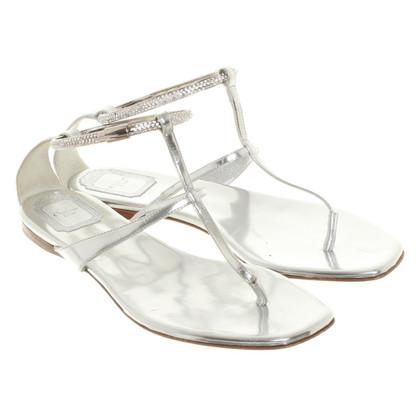 Christian Dior Sandaletten mit Schmucksteinen