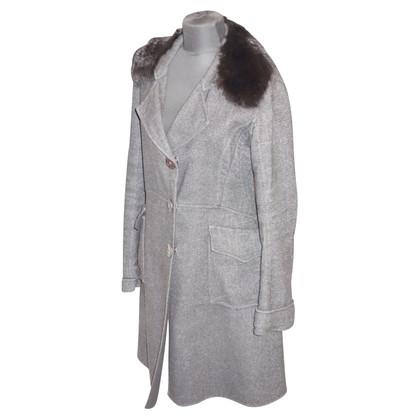 Ermanno Scervino Wool coat with fur collar