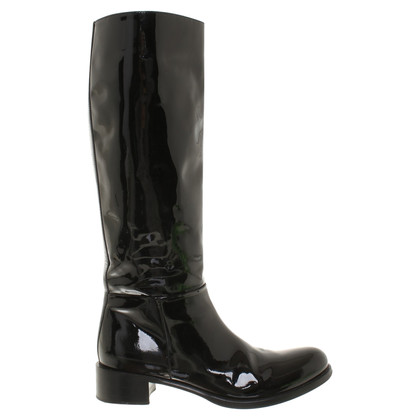Prada Boots patent leather