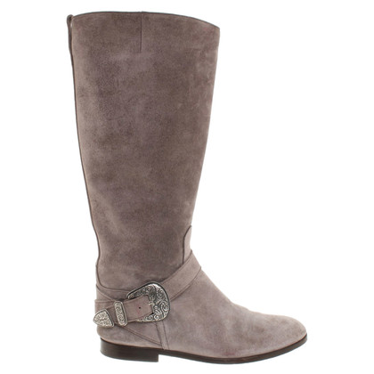 Etro Suede boots in grey
