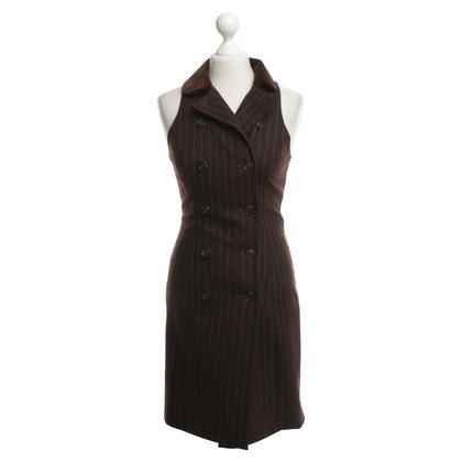 Ralph Lauren Mantelkleid mit Nadelstreifen
