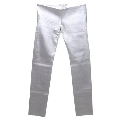 Jitrois Leren broek in zilver