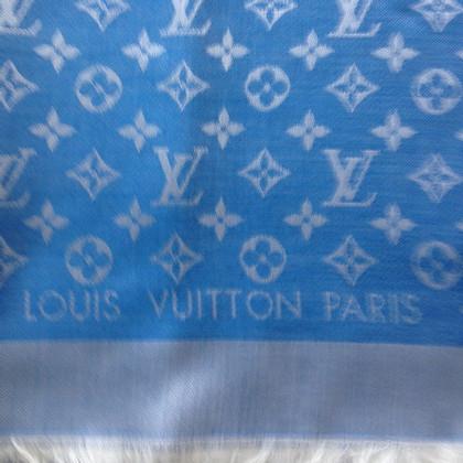 Louis Vuitton Monogram Denim panno in blu