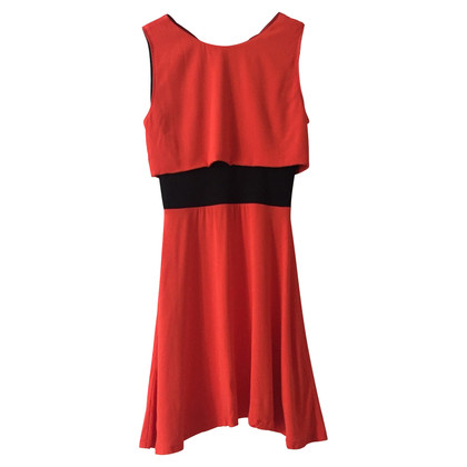 Maje Kleid in Schwarz/Orange