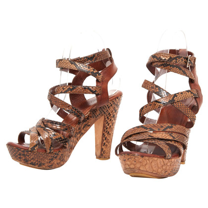 Lanvin Sandals from python leather
