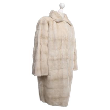 Fendi Cappotto di pelliccia di visone crema