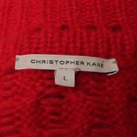 Christopher Kane Pullover mit Zopfstrickmuster