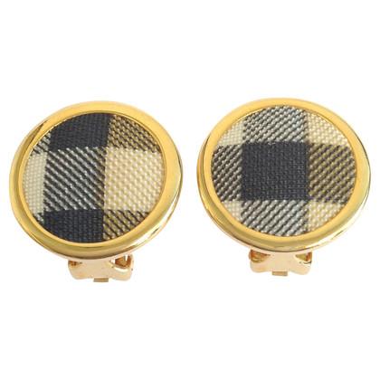 Burberry Gold clip earrings
