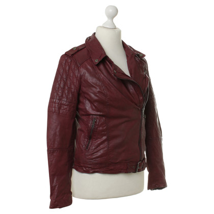 Muubaa Leather jacket in Bordeaux