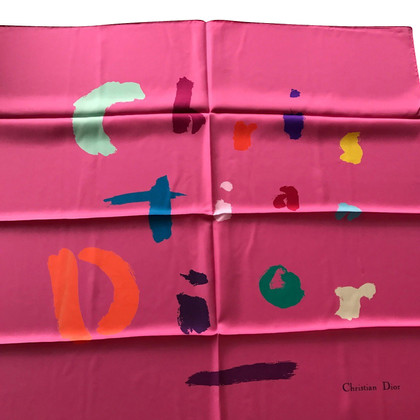 Christian Dior Vierkante sjaal Fuchsia