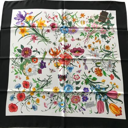 Gucci Gucci Floral foulard con cinturino nero