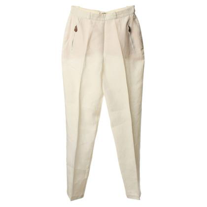 Hermès Pantaloni di lino