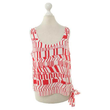 Miu Miu Top in rosso e bianco