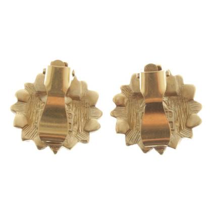 Lanvin clip orecchio oro colorato