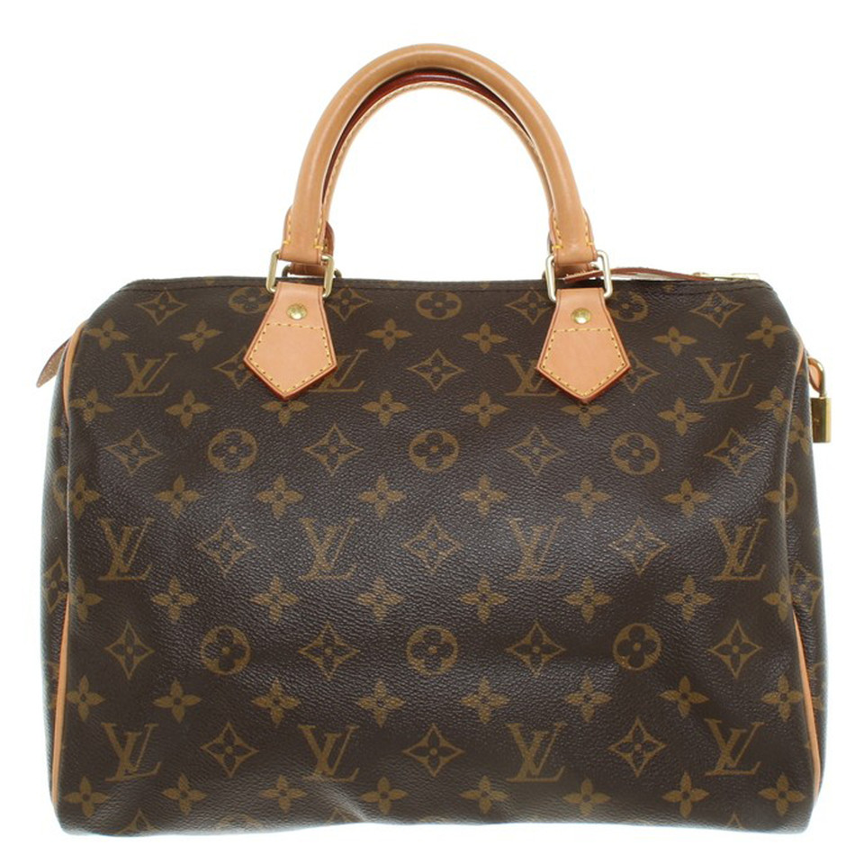 louis vuitton speedy 30 monogram canvas strap buy second hand louis vuitton speedy 30. Black Bedroom Furniture Sets. Home Design Ideas
