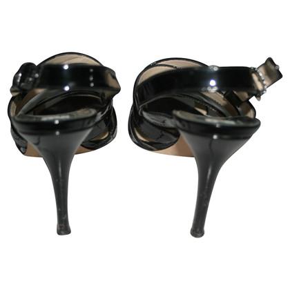 Dolce & Gabbana Laksleren sandalen